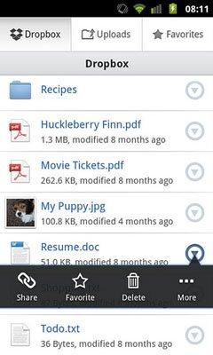 Dropbox 2 для Android