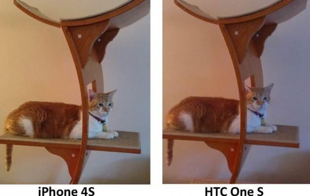 Сравнение камер HTC One S и iPhone 4S внутри помещения