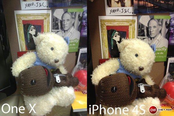 Камера iPhone 4S против One X
