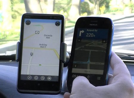 HTC Locations против Nokia Drive