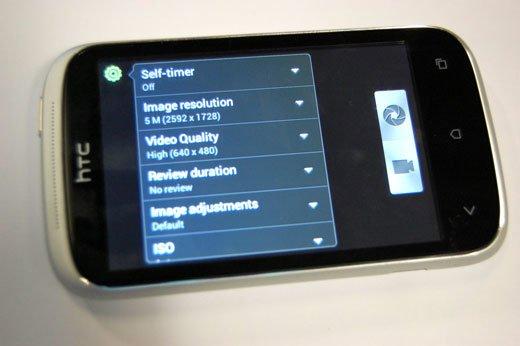 HTC Desire C — настройки камеры