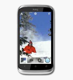 Интерфейс камеры в HTC Desire X