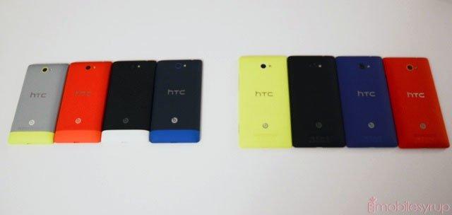 Цвета HTC 8S (слева) и 8X (справа)