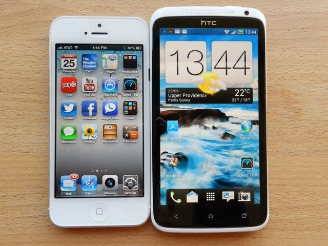iPhone 5 и HTC One X