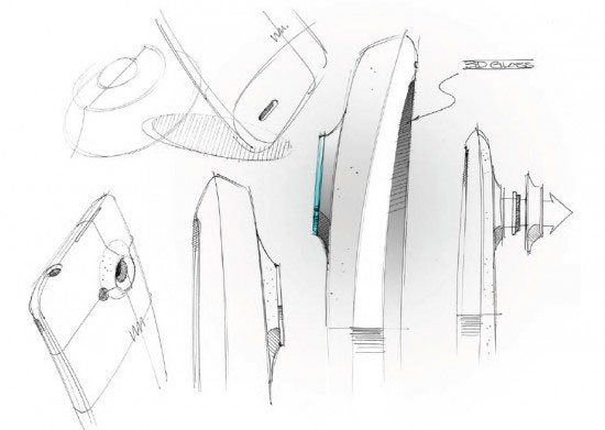 Эскизы дизайна HTC One X+