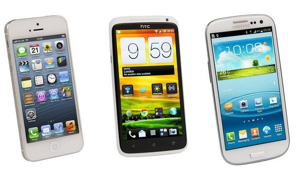 iPhone 5, Galaxy S3 и HTC One X