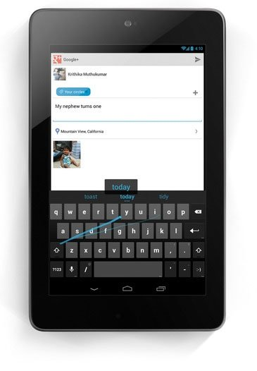 Gesture Typing  в Android 4.2 Jelly Bean