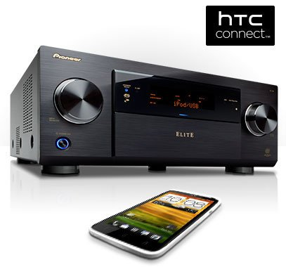 Ресиверы Pioneer получили поддержку HTC Connect