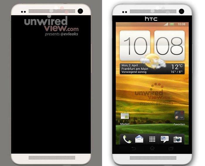 Предполагаемая компьютерная модель HTC M7