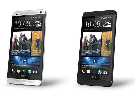 Белый и черный HTC One