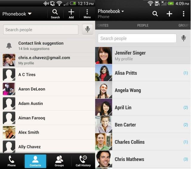 «Люди» в HTC Sense 4 и HTC Sense 5