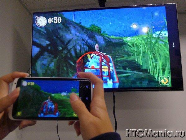 HTC Media Link HD в зеркальном режиме работы
