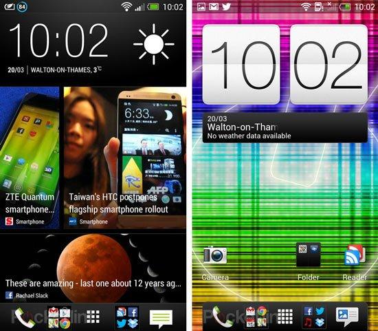 HTC Sense 5 (слева) и HTC Sense 4+ (справа)