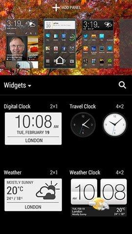Виджеты часов в HTC Sense 5