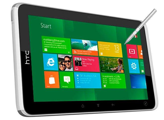 HTC готовит планшеты на Windows 8 с экранами 7 и 12 дюймов