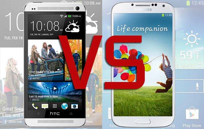 HTC One или Samsung Galaxy S4: сравнение и выбор