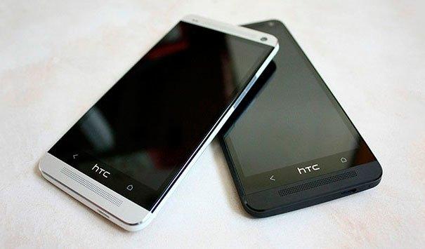 Черный и серебристый HTC One