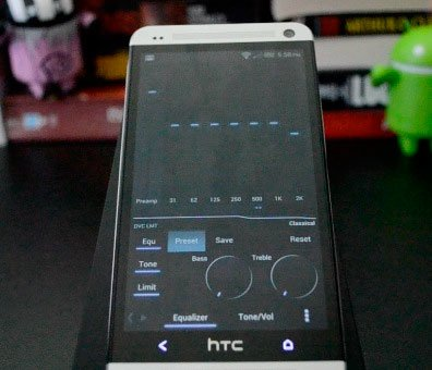 Эквалайзер в PowerAMP на HTC One