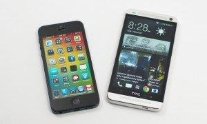 iPhone 5 и HTC One