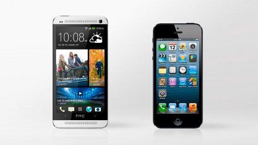 HTC One и iPhone 5