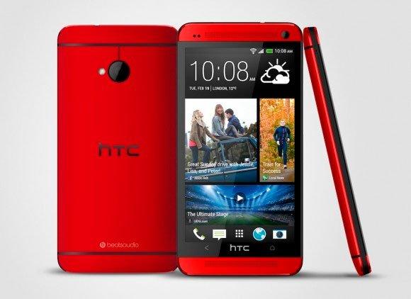 HTC One в красном цветовом исполнении
