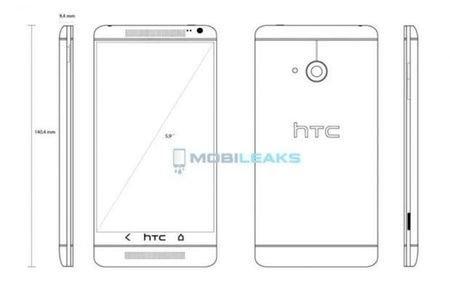 Схематичное изображение HTC One Max