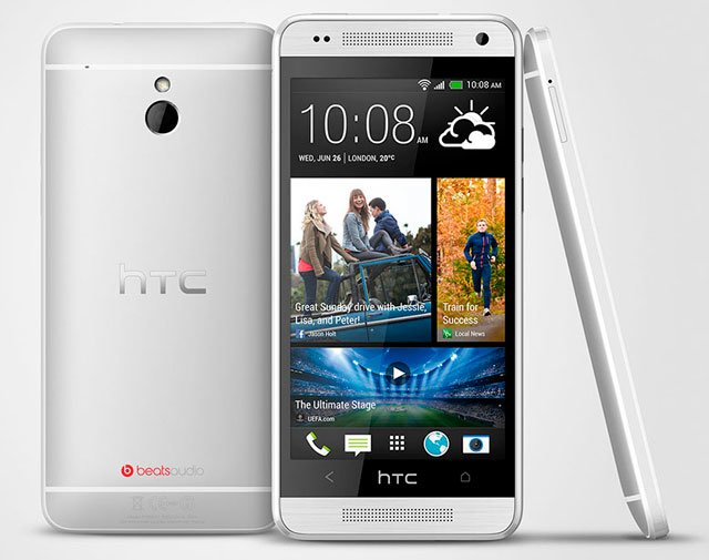 HTC One mini серебристого цвета