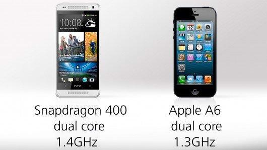 Сравнение процессоров HTC One mini и iPhone 5