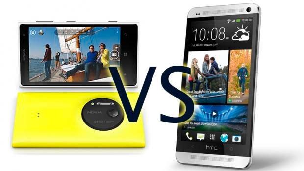 Сравнение Nokia Lumia 1020 и HTC One