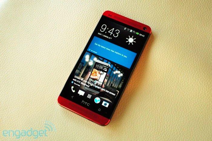 Осмотр красного HTC One