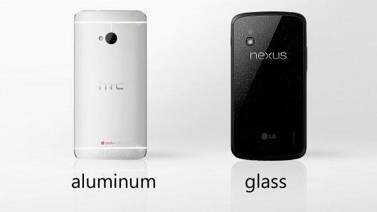 HTC One или Nexus 4: материалы