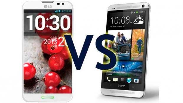 Сравнение HTC One с LG Optimus G Pro