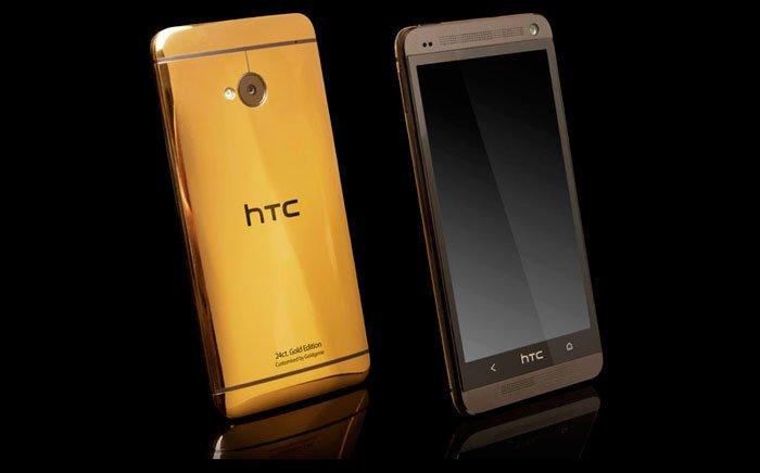 HTC One с корпусом из золота