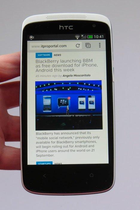 HTC Desire 500 — браузер