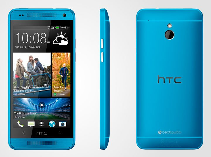 HTC One mini синего цвета