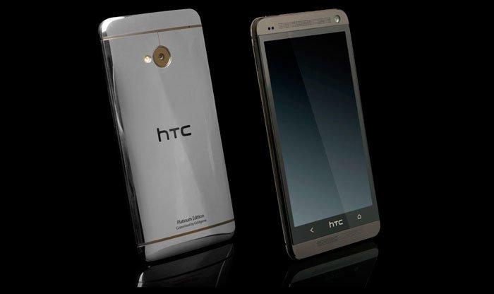 HTC One с корпусом из платины
