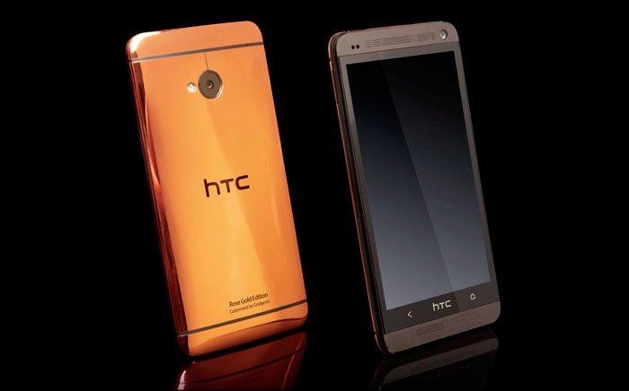 HTC One с корпусом из розового золота