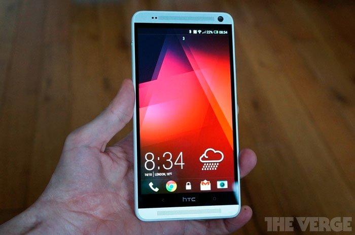 HTC One max спереди