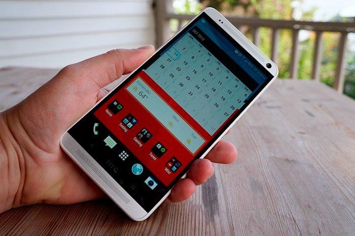 Экран HTC One max на улице