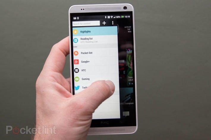 Новое меню и элементы управления BlinkFeed в HTC Sense 5.5