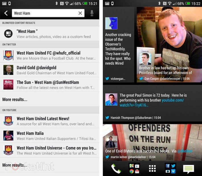 Фильтрация контента в BlinkFeed из HTC Sense 5.5