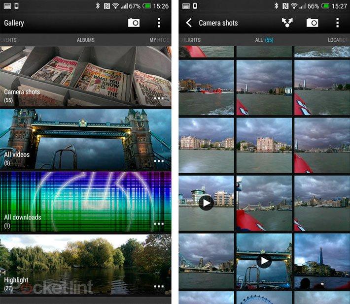 HTC Sense 5.5: просмотр Галереи и снимков камеры