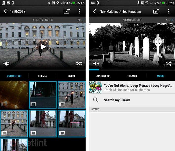 Видеоподборки в HTC Sense 5.5