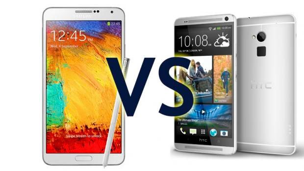 HTC One max против Galaxy Note 3