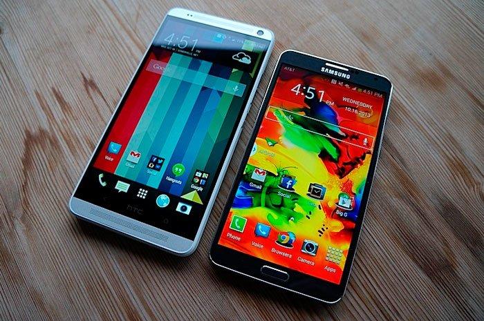 Сравнение HTC One max и Galaxy Note 3