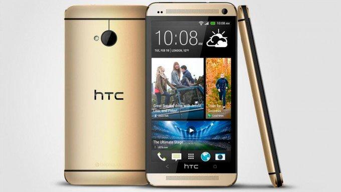 HTC One с корпусом цвета champagne