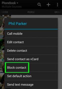 Блокировка звонков в HTC Sense