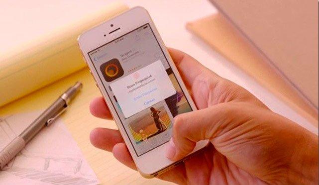 Cканер отпечатков пальцев в iPhone 5S