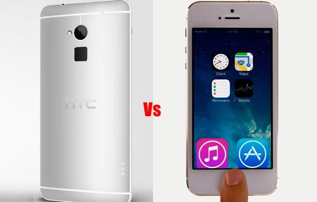 Сравнение сканера отпечатков пальцев в iPhone 5S и HTC One max