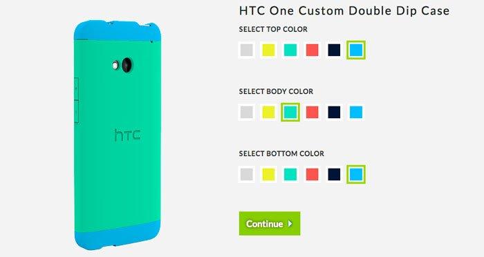 Подбор цветов для чехла HTC Double Dip на сайте HTC USA
